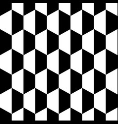 black white honeycomb hexagon seamless background vector image