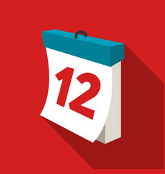 calendar icon of for web and vector image