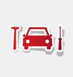 Car tire repair service sign new year vector
