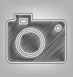 digital camera sign pencil sketch vector image vector image