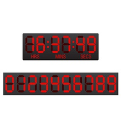 Digital countdown timer 01 vector