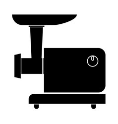 Electric meat mincer black color icon vector