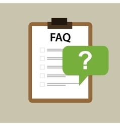 faq frequently asked question icon mark vector image