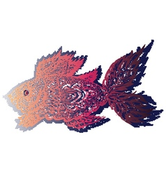 Fish Grunge Lineart vector image vector image