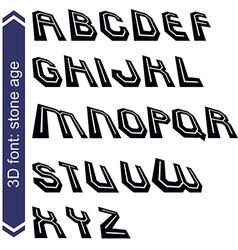 Geometric typescript in rotation 3d industrial vector