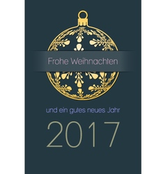 German christmas and new year 2017 background vector