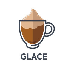 glace coffee isolated on white background vector image