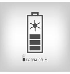 Grey solar battery vector