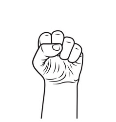 hand fist vector image