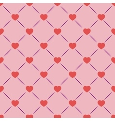 Heart and square seamless pattern vector image