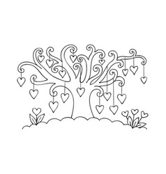 hearts on the tree vector image