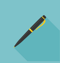 ink pen icon with long shadow vector image vector image