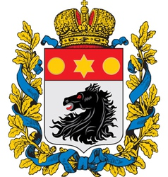 Kharkov Coat-of-Arms vector image vector image