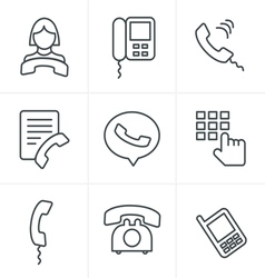 Line icons style phone icons vector