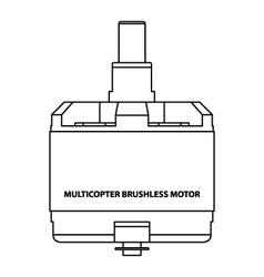Multicopter brushless motor vector
