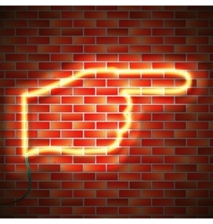 Neon sign on wall vector