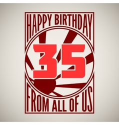 Retro poster Happy birthday vector image vector image