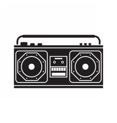 Retro tape recorder vector