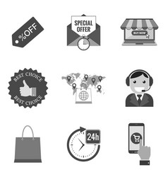 Set of commercial icons and symbols in trendy vector