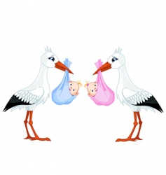 stork baby vector image vector image