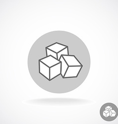 Sugar logo Three cubes vector image