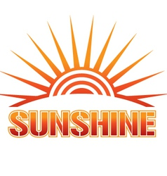 sunshine vector image