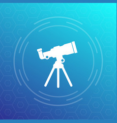 Telescope icon space observation astronomy vector