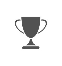 Trophy icon on white background vector