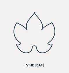 vine leaf outline icon grape leaf vector image vector image