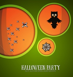With halloween and halloween monster vector