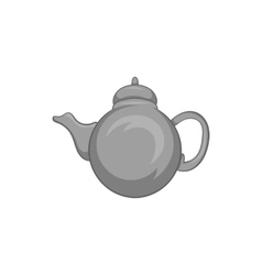 Kettle icon black monochrome style vector