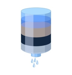 Water filter cartridge icon in cartoon style vector