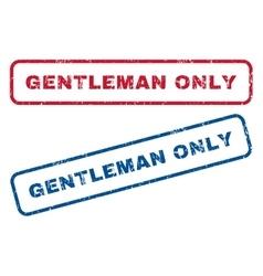Gentleman only rubber stamps vector
