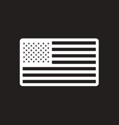 Stylish black and white icon american flag vector