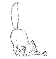Kitten playing vector