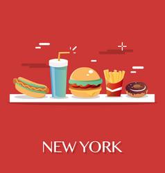 New york food vector