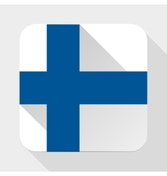 Simple flat icon finland flag vector