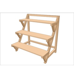 Garden shelf vector