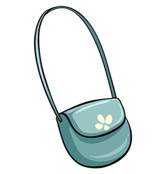 Blue shoulder bag vector