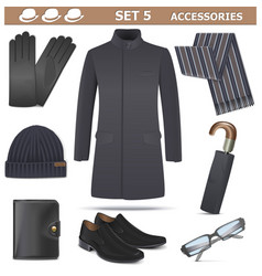 Male accessories set 5 vector