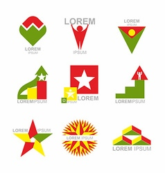 Business icons set design elements for business vector