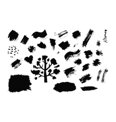 Set of ink drops grunge for your design vector image