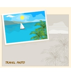 Travel photo template vector