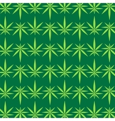 Green marijuana pattern vector