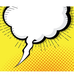 Blank pop art comic book speech bubble vector