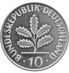 German money silver coin vector