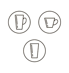 Cup drink icons vector