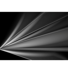 Dark abstract grey smooth waves background vector
