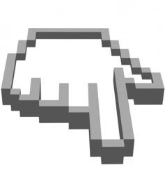 computer hand vector image