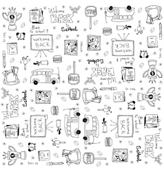 Set of hand draw doodles school vector